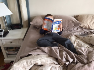 Just a little light reading, Father. Clifford the Big Red Dog wasn't suiting my tastes today.